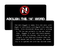 N-word educational card abolish the N word Nazi, Nazis, Nazism