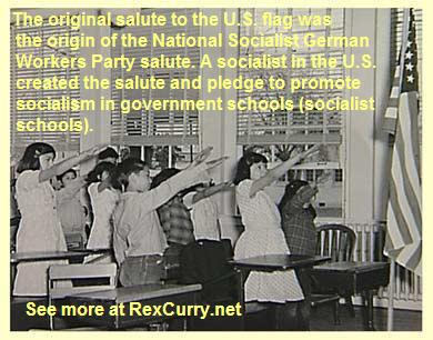 Pledge of Allegiance photograph - Wikipedia, the free encyclopedia - not a Roman Salute, Edward Bellamy, Francis Bellamy, Swastika