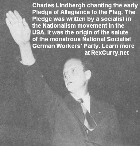 Charles Lindbergh America First Committee, The American Salute, Nazi salute Fascist salute Hitler salute Third Reich