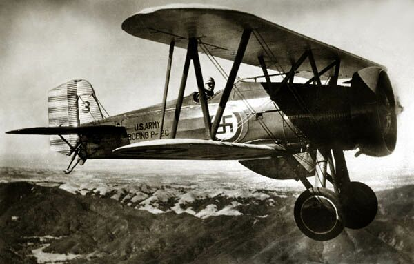 American Swastika WWII 1929 to 1932 & 1941 Boeing P-12 F4B