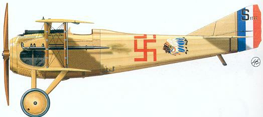 American Swastika of Escadrille Top Ace Raul Lufberry