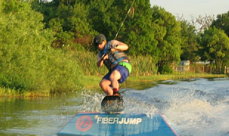Curry Lake wakeboarding on Lake Curry