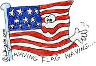 Flaggie the flagy flag waving flag of pledge nazis