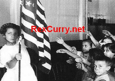 Witch Hunting I pledge allegiance to the flag fascists nazis socialists authoritarians totalitarians