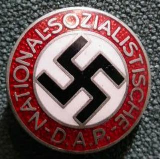 Nazi membership pin & Krit Motor Car Company Detroit Swastika