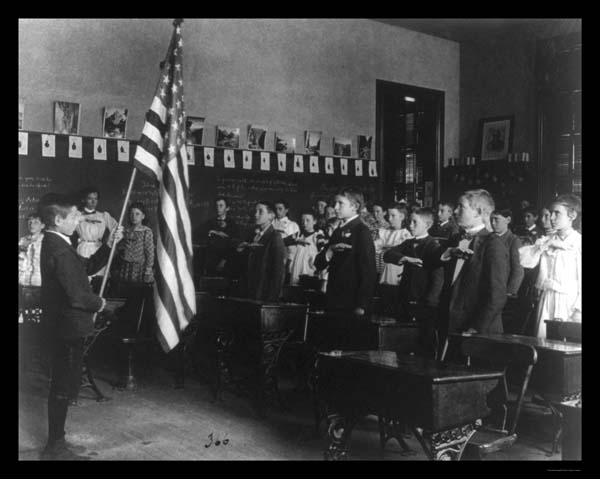 military socialism photograph pledge of allegiance 1899