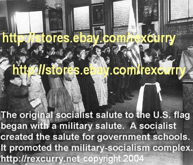 Columbus Day, Francis Bellamy, Pledge of Allegiance, the original military-socialist salute to the flag