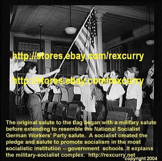 military-socialist image salute to the U.S. flag