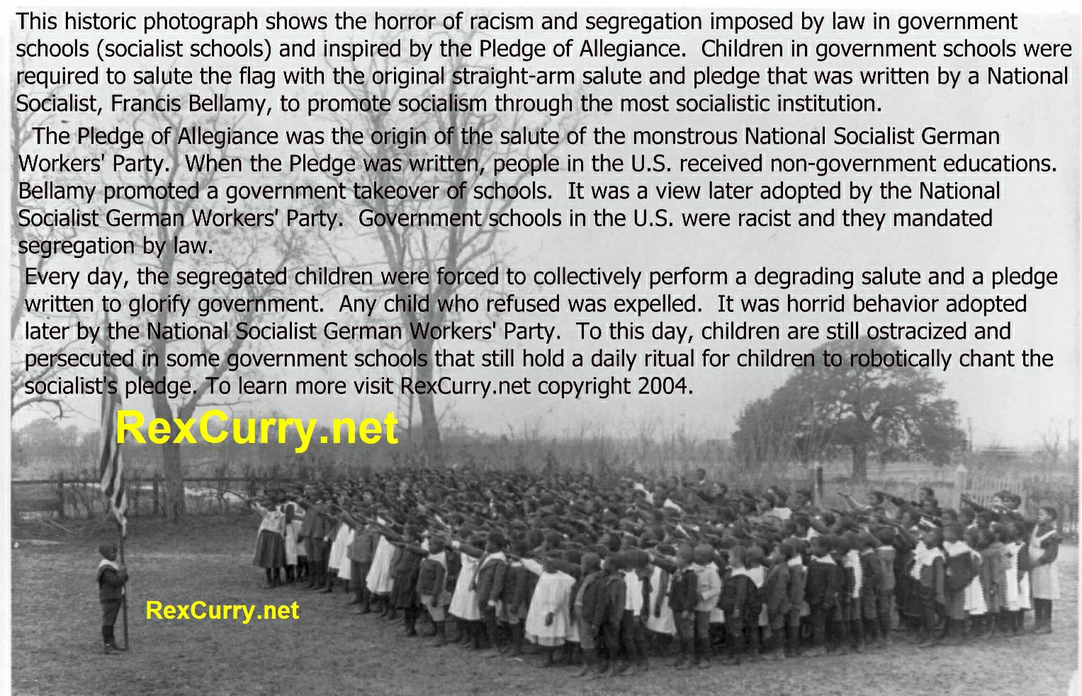Francis Bellamy, Pledge of Allegiance, socialism, segregation, & racism