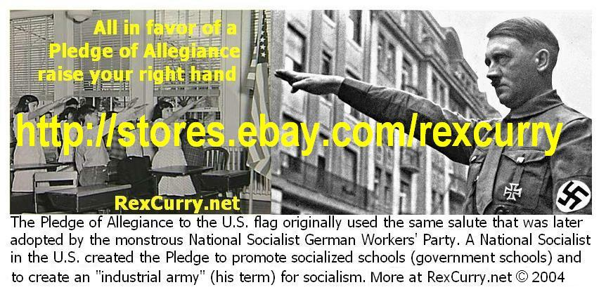 Pledge of Allegiance, Adolf Hitler & the USA's Pledge of Allegiance. Raise your right hand?