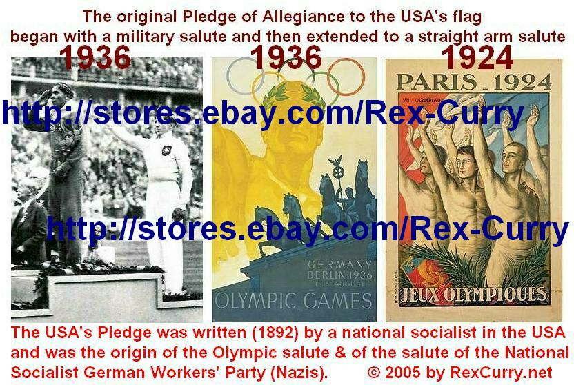 Stars & Stripes, Third Reich, Fascist salute in Pledge of Allegiance, Francis Bellamy, Edward Bellamy, Looking Backward, Swastika, Holocaust, Inquisition