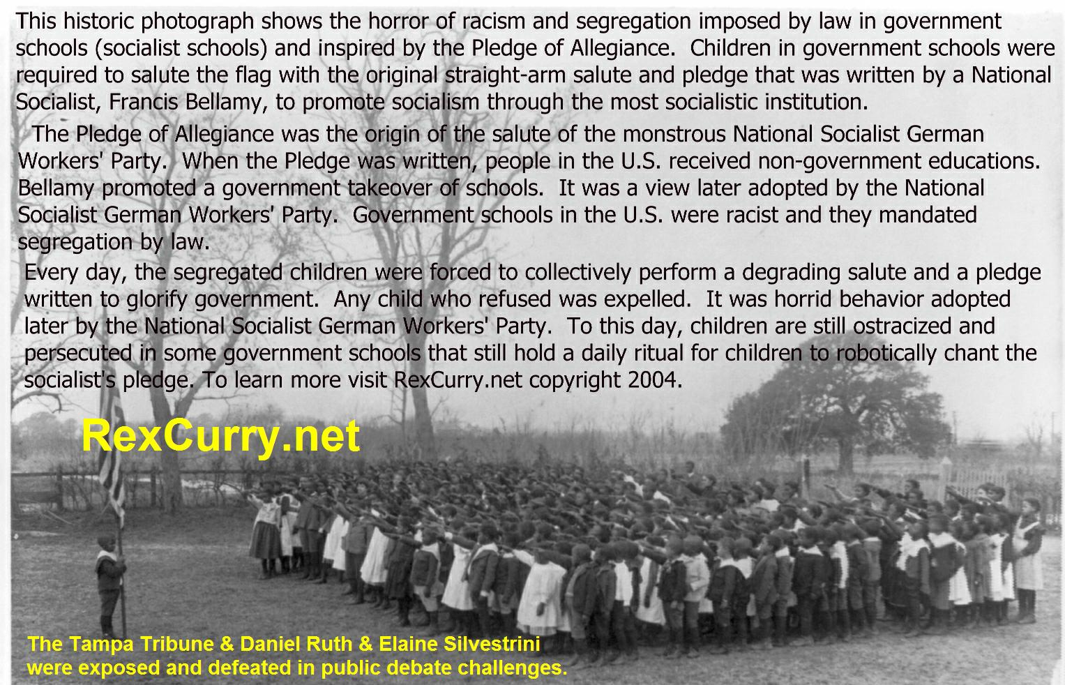 Pledge of Allegiance, Edward Bellamy, Socialism's Sick Swastika !