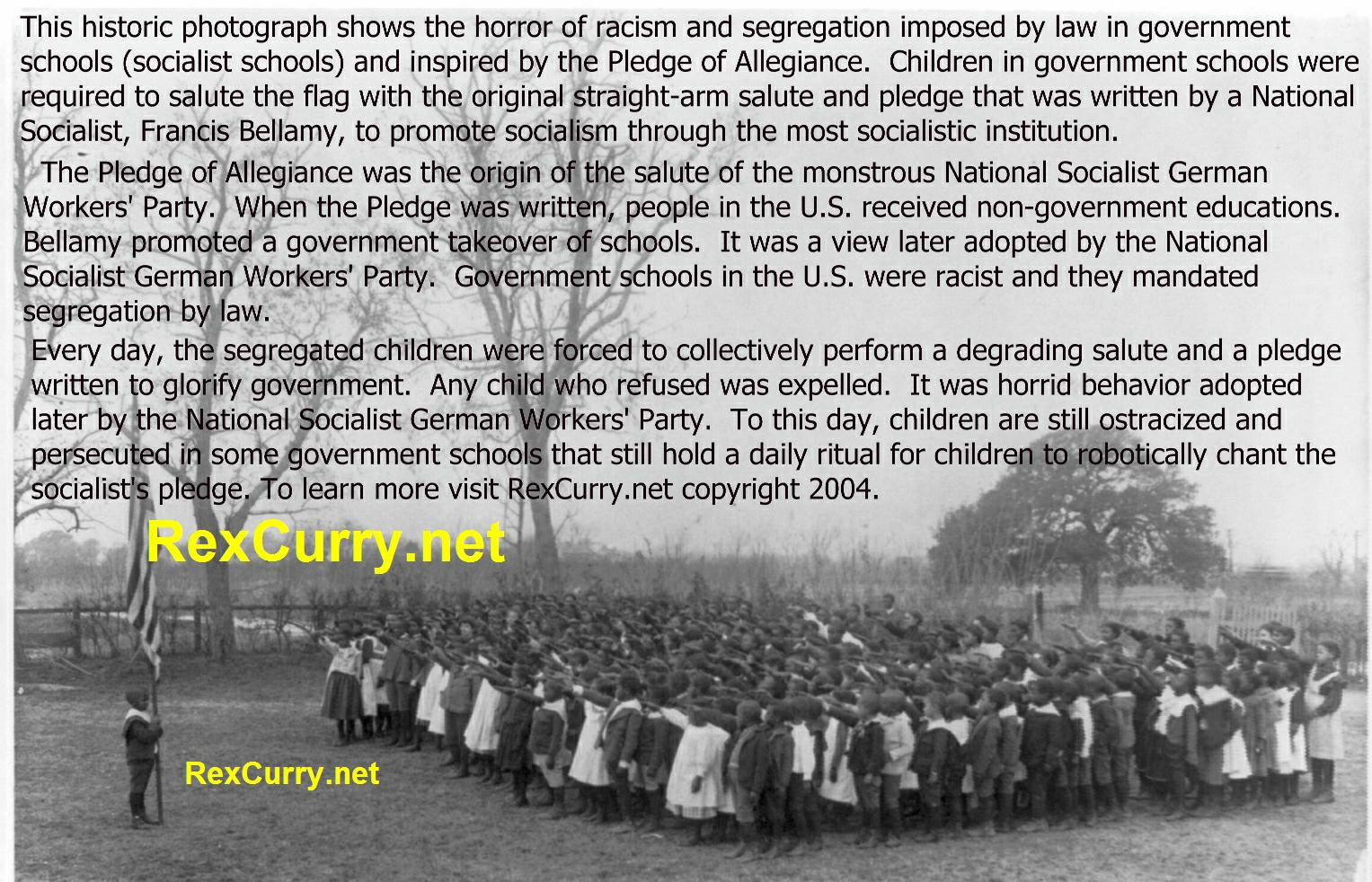 Brown v. Board of Education Pledge of Allegiance & socialism, segregation and racism