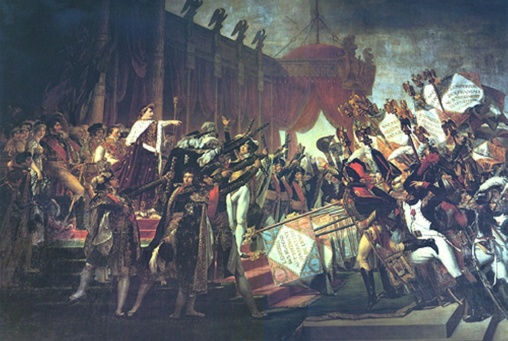 Distribution of the Eagles Jacques Louis David exposed by art historian Dr. Rex Curry & by Jacques-Louis David