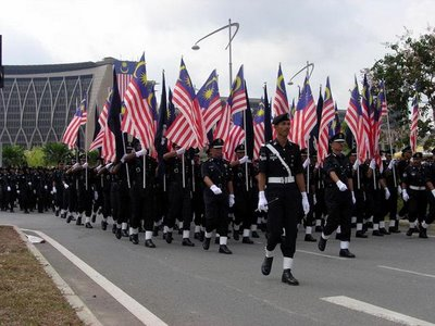 Polis Diraja Malaysia police Malaysian flag