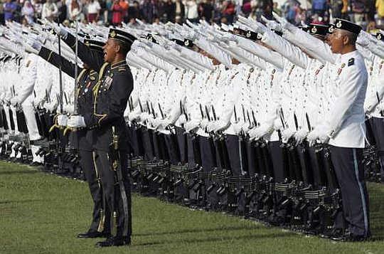Malaysian Army salute?
