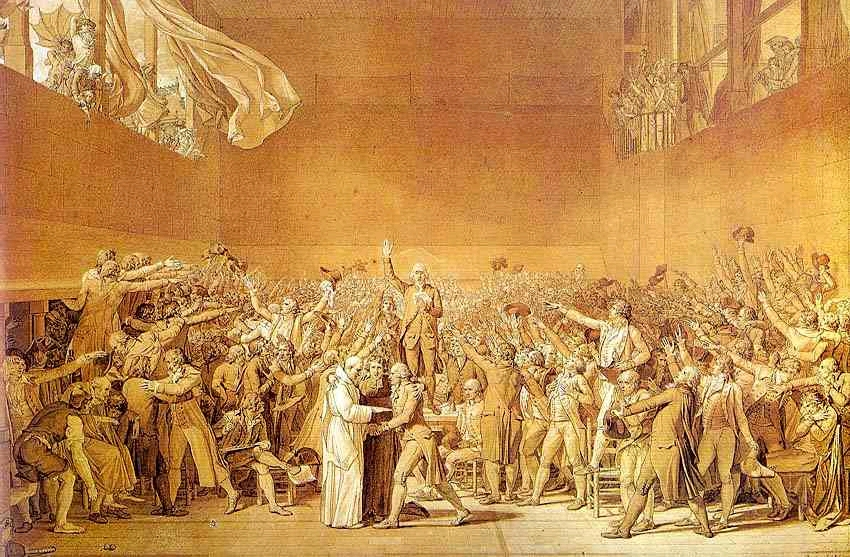 Tennis Court Oath Jacques Louis David debunked by art historian Dr. Rex Curry & by Jacques-Louis David