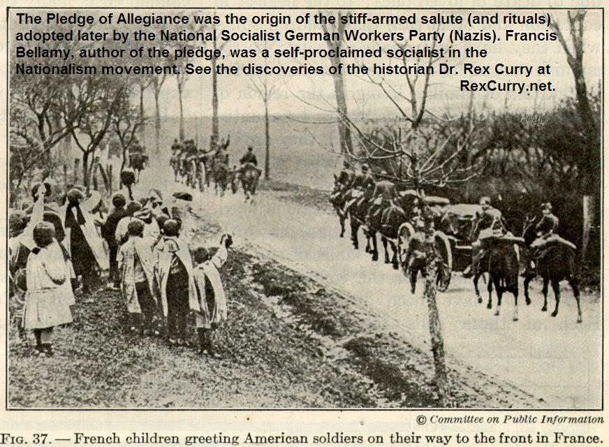 Pledge of Allegiance Americans WWI French Children
