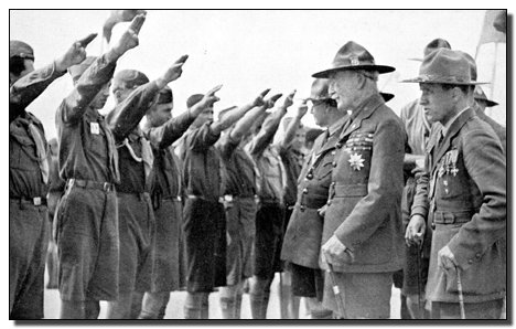 Pledge of Allegiance, Nazi salute for Girl Scouts & Boy Scouts in the USA