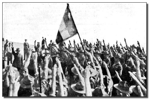French Fascism & Nazi salutes from Boy Scouts & Girl Scouts Nazi salute fascism