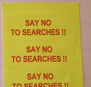 SAY NO TO SEARCHES & be an SNTS superhero