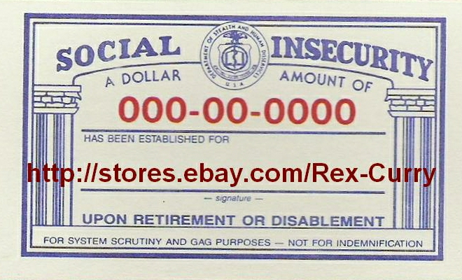 Social Security Card & Socialist Slavery