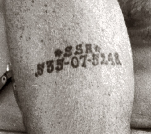 Social Security Card Number tattoos predated Auschwitz & German National