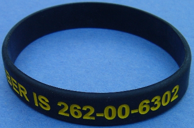 Social Security Card Number Identification bracelet