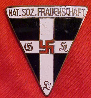 National Socialist Frauenschaft Frauen Warte the cross and the swastika