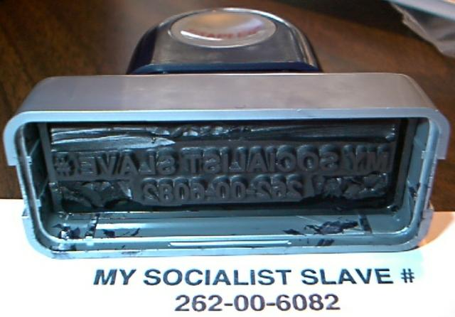 SOCIAL SECURITY card replacement death index - SOCIALIST SLAVE thumbnail stamp image social security
