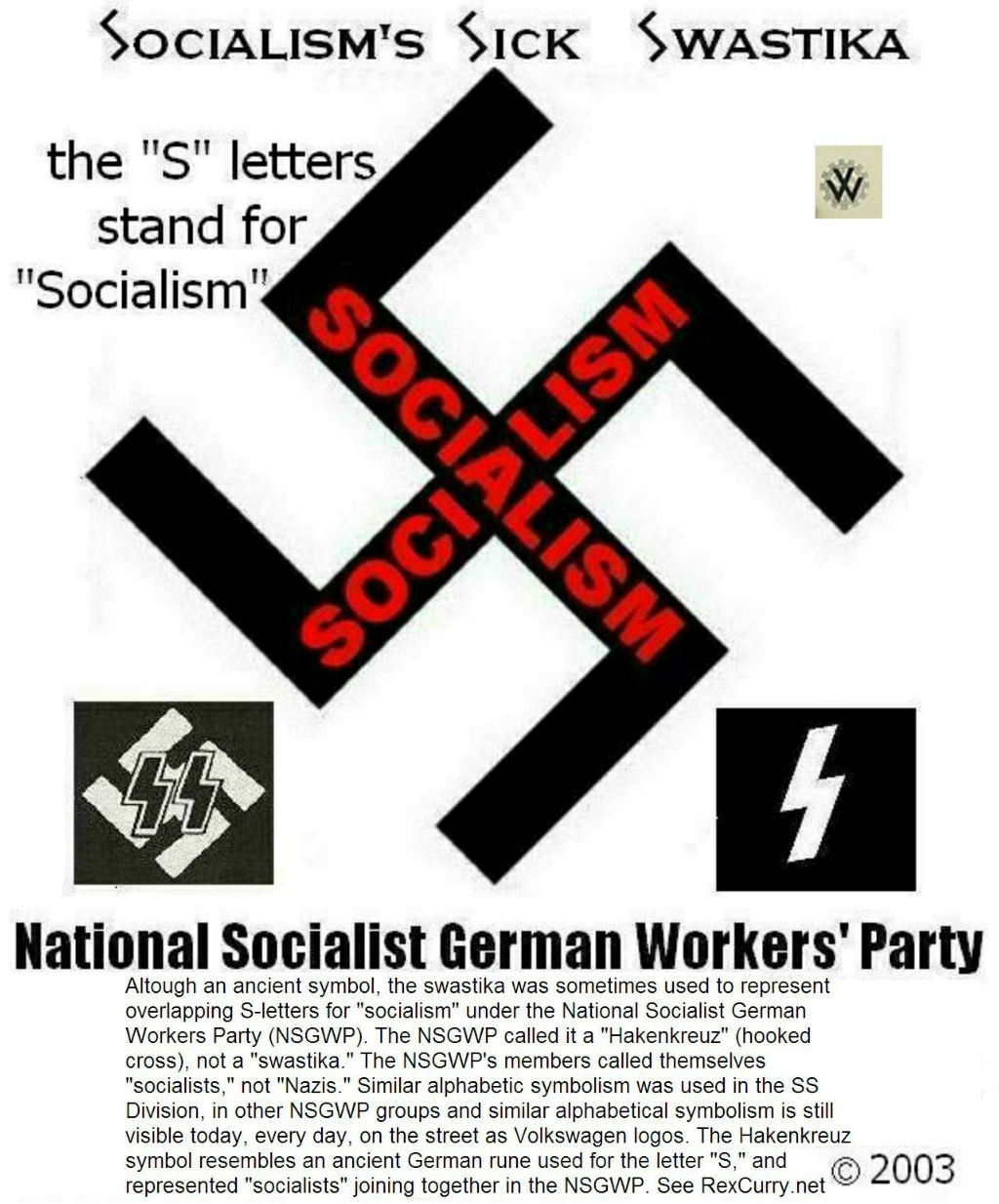 Socialist Cross, Cross of Socialism, Swastika,1932 National Socialist election poster