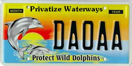 Privatize Waterways. Protect Wild Dolphins tag Florida. FREE MARKET ENVIRONMENTALISM Protect Wild Dolphins Privatize Waterways! Free Market Environmentalism & Capitalism