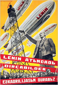 Lenin Nazi salute of USA to USSR