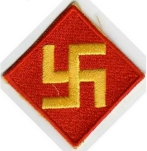 45th Infantry Division swastika of Sooner Soldiers svastika5 rex curry
